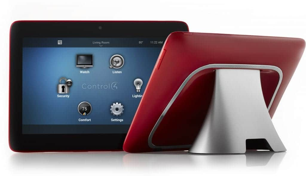 Control4 Red Portable Touch Screen