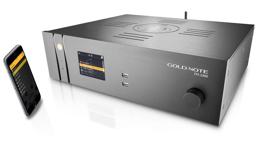 Audiophile DAC Gold Note streamer